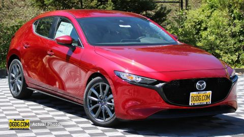 "New 2019 Mazda<br /><span class=""vdp-trim"">Mazda3 Hatchback w/Preferred Pkg FWD Hatchback</span>"
