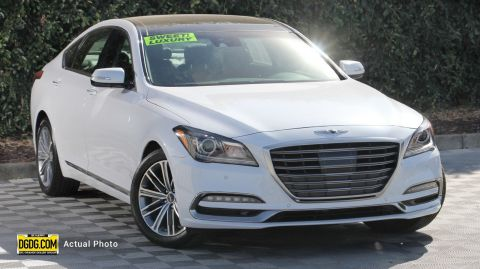 "Pre-Owned 2018 Genesis<br /><span class=""vdp-trim"">G80 3.8 RWD 4D Sedan</span>"